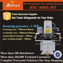 HSC-568II-30T hot foil stamping gliding die cutting and embossing machine