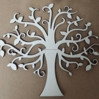 laser cutting wood craft pieces wooden Christmas tree decorations