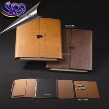 customized logo classic 2016 / 2017 calender diary book note book planner pu leather cover