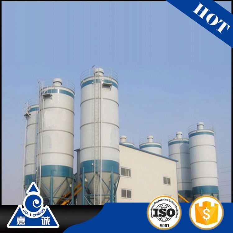 Concrete mixer station stationary concrete batching plant machine with simple standard configuration in high efficiency