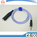 "3FT stereo 6.3mm 1/4"" female to 3.5mm male guitar cable"