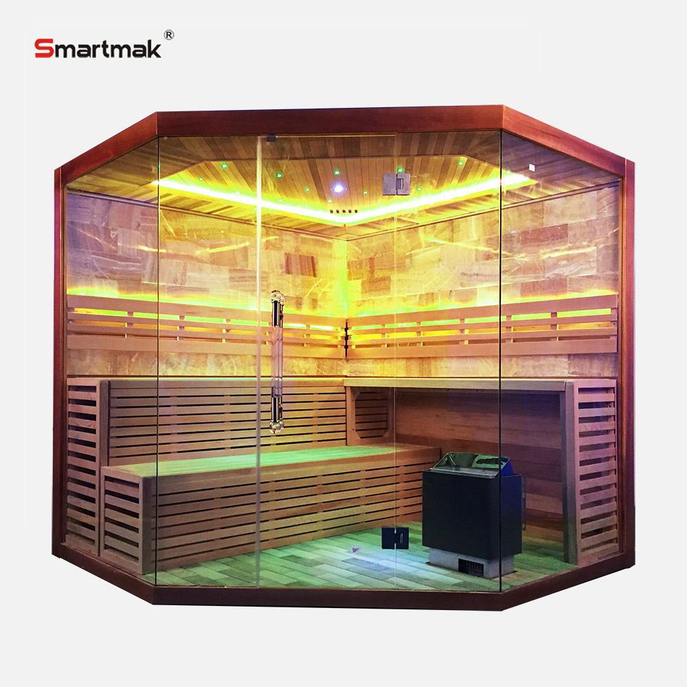 Fine massage room with sauna bath