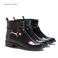 China reasonable price women buckle strap botas ankle flat boots