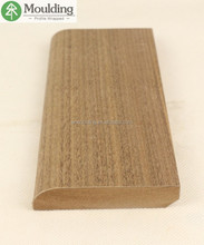 Walnut wood veneered bullnose MDF skirting board