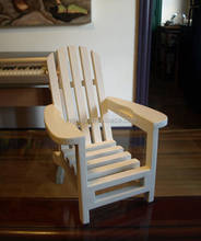 White Painted Wood wooden mini chair handicraft for home decor