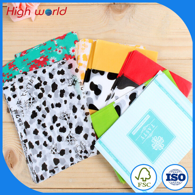 Custom Sweet Colorful Printed Wrapping Tissue Paper for Packing Clothing
