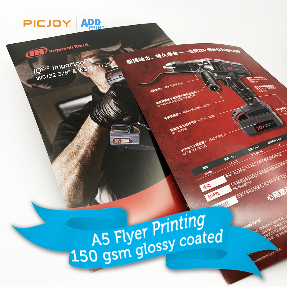A5 150gsm glossy coated paper cheap flyer <strong>printing</strong> wholesale