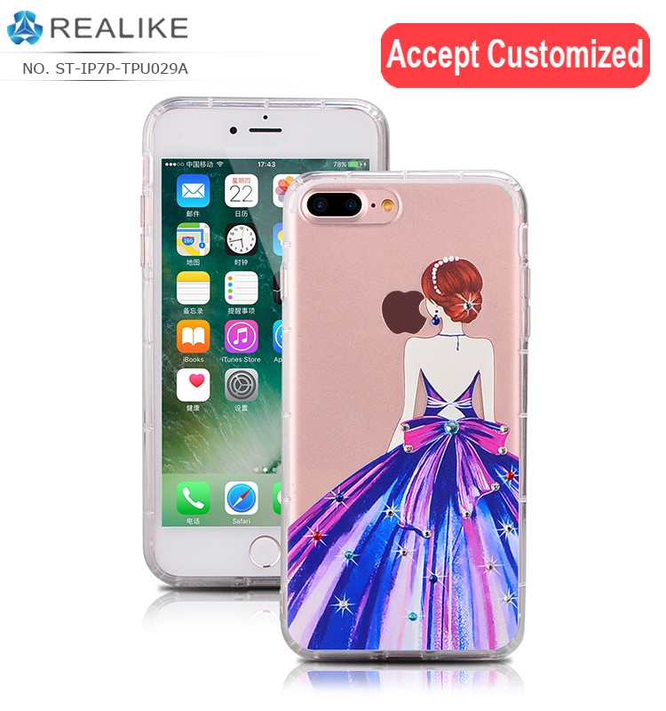 accept 3d printing for iphone 7 7 plus case tpu; factory price soft thin tpu case for iphone , for samsung galaxy s8 s8 plus