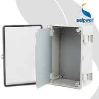 Manufacturer Saipwell Transparent or Gray waterproof hinged plastic electrical enclosure