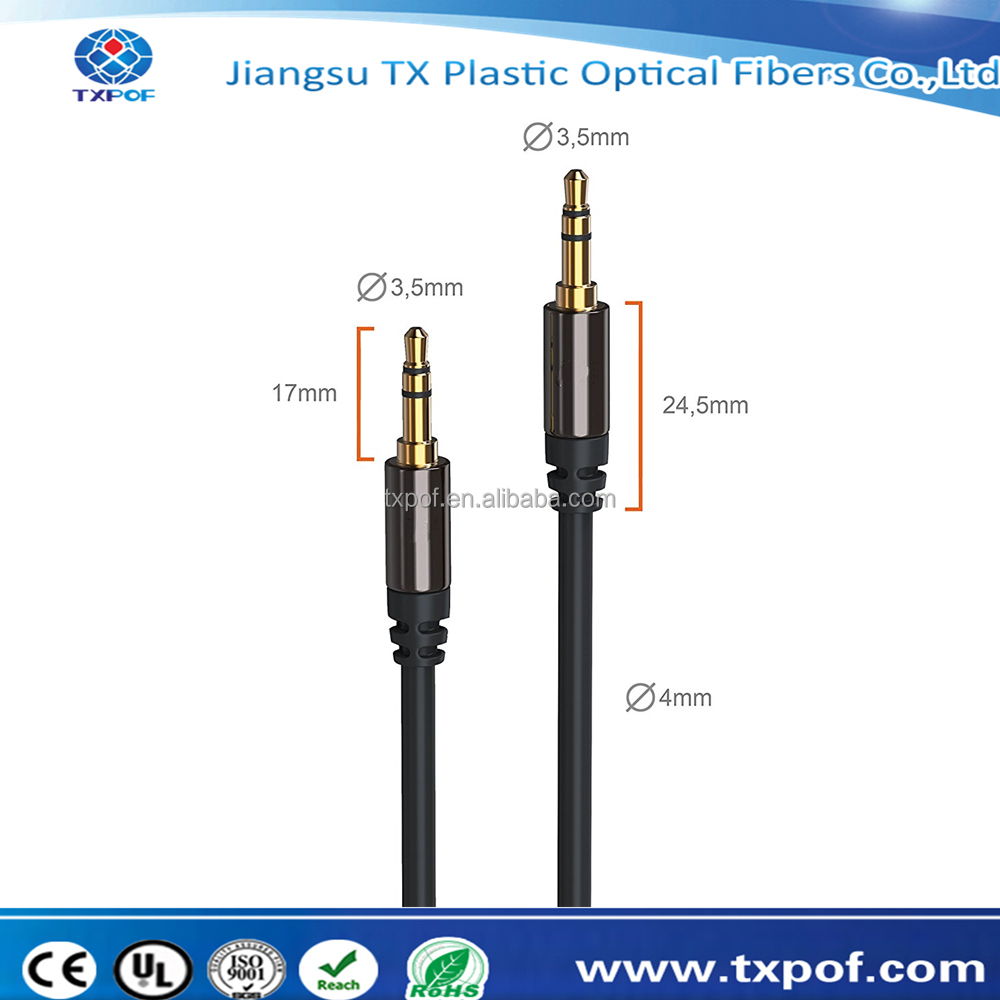 chinese supplier best mobile phone aux cord 3.5mm cable male to male