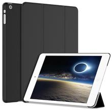 Genuine Leather Trifold Cover Stand with Rubber coated PC Back Cover for iPad mini 1/2/3