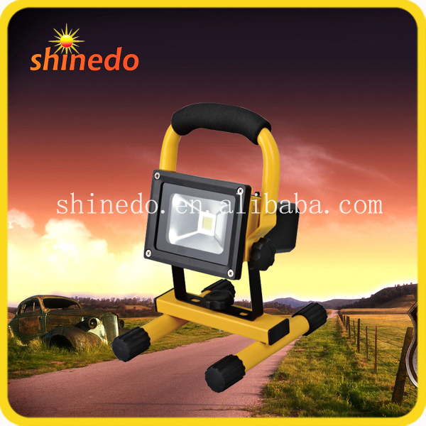 portable solar led battery flood work light