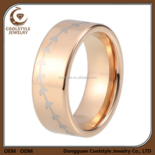 8mm New style USA Best Selling Rose Gold Tungsten carbide Baseball Ring