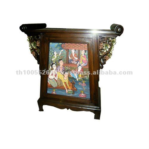 Book Ratten cabinet with paniting on front door
