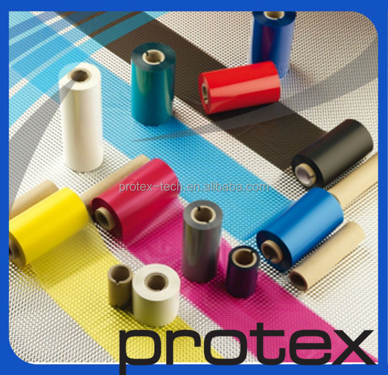 Good quality Color finished roll barcode ribbon wax,resin,wax-resin color ribbon for textile Nylon