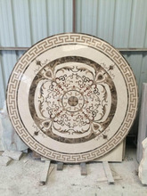 Waterjet medallion Natural Marble top round dining table pattern