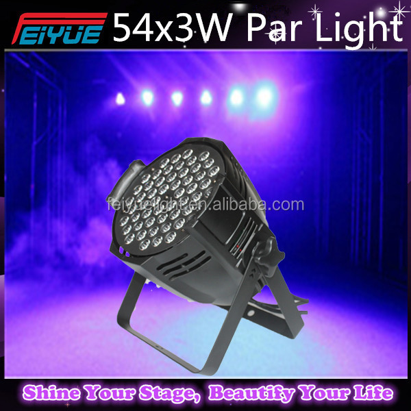 Promotion RGB / RGBW Led 54 3W Par Light for Club/DJ/Karaoke/Wedding/Party Night Club Light 54x3W LED Slim Flat Par