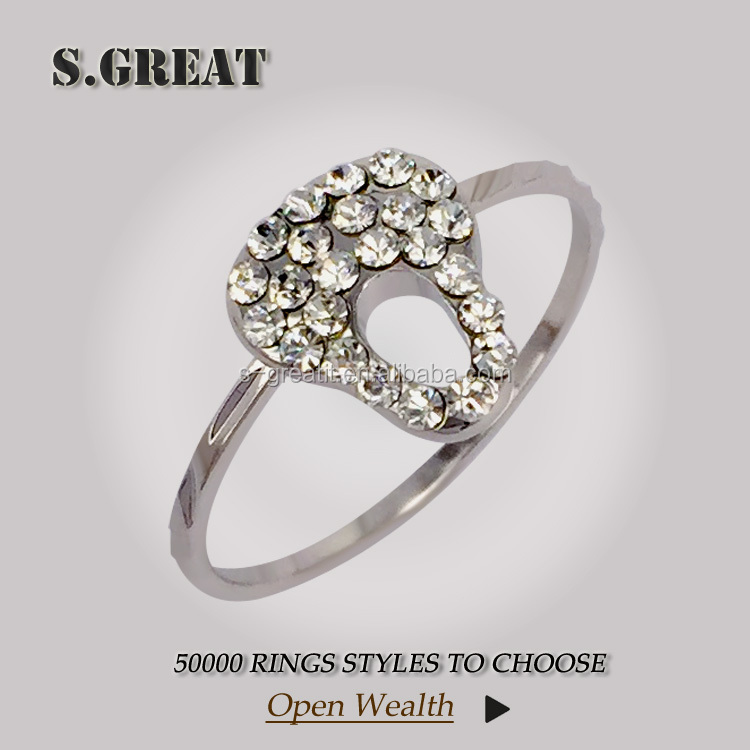 latest design 5925 silver 925 diamond ring women rich minimum price of diamond ring wholesale