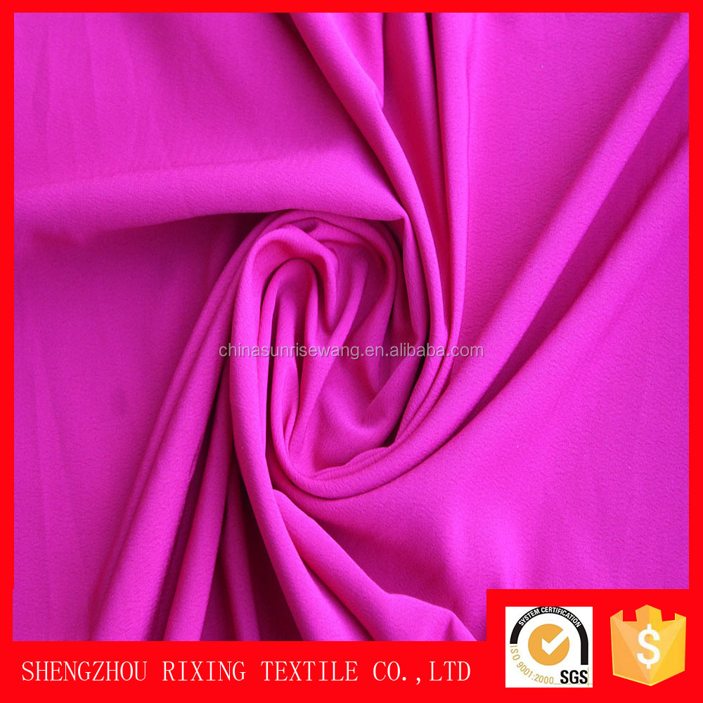 100% polyester crepe koshibo kain fabric for woman dress