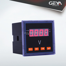 GEYA Single Phase Voltage Electric LED/LDC Display Meter Frame Size 80*80mm Cutout Size 76*76mm