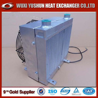 high performance plate fin customized aluminum hydraulic oil cooler fan