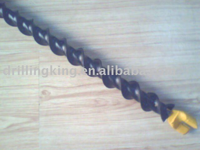 Spiral steel rods for coal mining