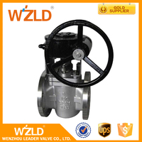 WZLD Cheap Medium Temperature Maunal Control Cast Steel Flange Lifting Type Plug Valve
