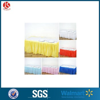 Fancy Plastic decor PEVA Different Table Skirts