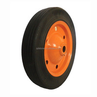 13 inch airless rubber wheels for wheelbarrow from china producer