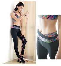 Ladies Attractive Indian Style Native Feathers Print Yoga Bra Leggings Suit