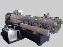 nanjing haisi twin screw extruder for cable making /PA glass fiber granules