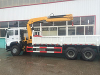 CHINA 20 ton EURO 2 hydraulic truck crane hot sale in Cambodia 12 wheel truck mounted crane with high quality low price