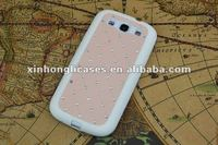 Diamond back cover cases For samsung galaxy s3