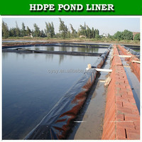 plastic HDPE fabric geomembrane waterproofing aquaculture liner for fish pond
