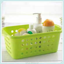 Rectangle shape tray plastic bathroom basket