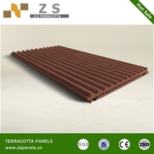 Curved terracotta wall cladding tile, glazing light weight tiles, Terracotta fasade coping tiles