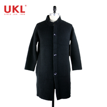 2018 New Style Design Mens Wool Knitted Fur Trench Coat