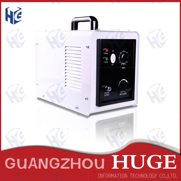 Portable ozone producing machine with changeable plug