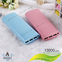 colorful plastic mosaic portable power bank 13000mah mobile phone charge battery