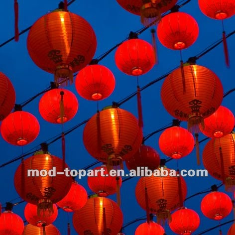 2012 Best seller lantern canvas painting with led light