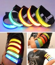 LED safety reflective belt strap snap band