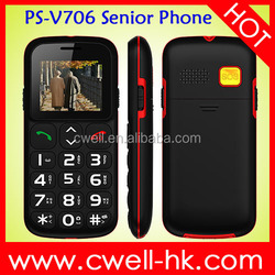 hot selling PS-V706 with SOS button elder easy use mobile phone