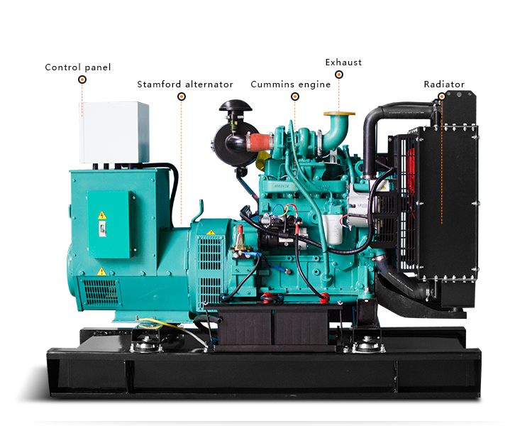 Denyo silent electric generator 60kva diesel generator price with Cummins engine 4BTA3.9-G2