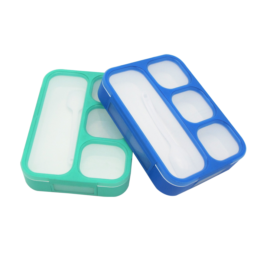 N1883 <strong>Plastic</strong> and Thermoplastic Rubber Bentgo Kids Leakproof Children Lunch Bento Box With Compartments