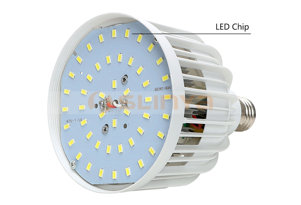 LED Bulb Lamp With Fins Heatsink E27 LED Spotlight Table Lamp Light