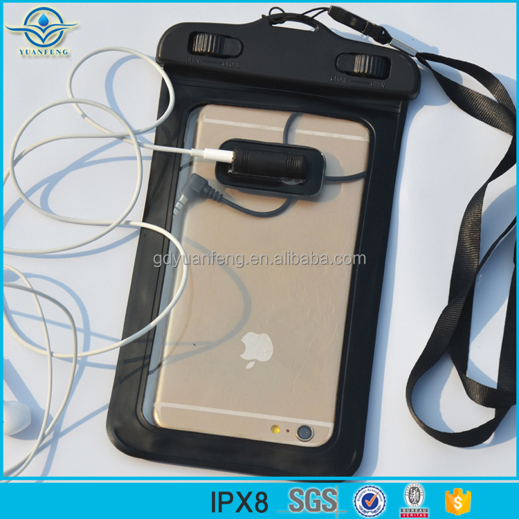 Hot selling Waterproof PVC smartphone mobile phone cases waterproof bag/pouch