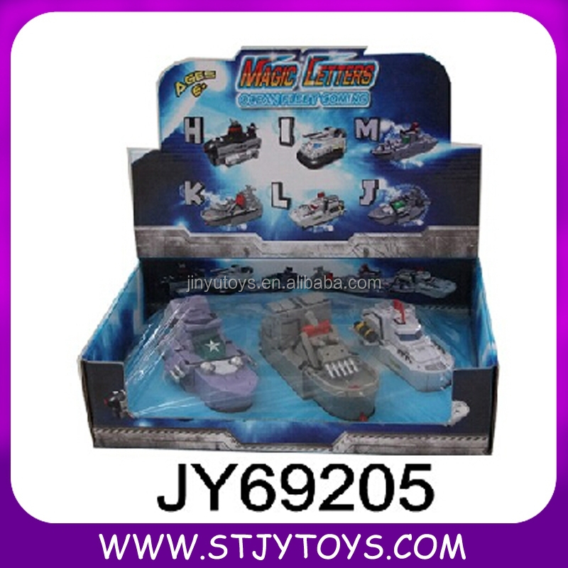 Newest Toys Transform Ship Toy , Magic Letters Transform Ship Toy For Children