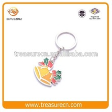 Cheap Custom Maker Bell Painted Zinc Alloy Metal Wholesale Keychains