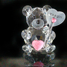 Wholesale Small Crystal Glass Animal Statue for Friendgirl Birthday Gift