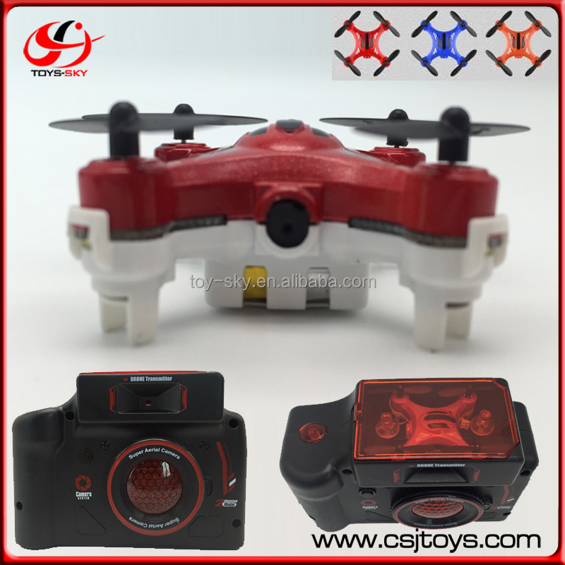Two shooting Model RC Mini Drones With Camera 4CH Nano Remote Control Quadcopter Flying Camera Helicopter